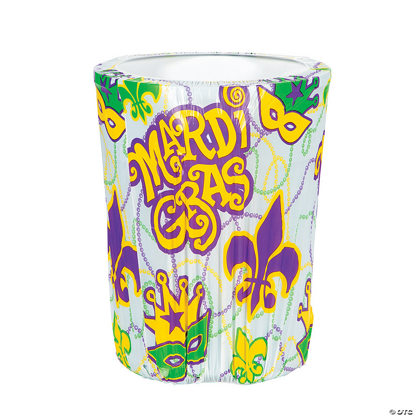 Mardi Gras Plastic Trash Can Cover Audio Thumbnail