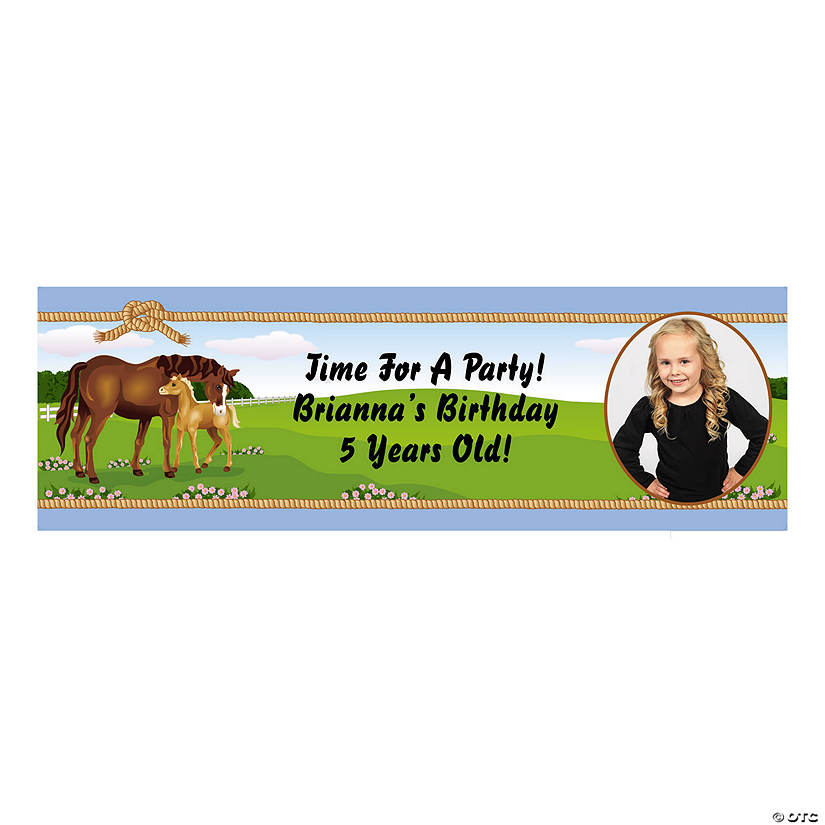 Mare & Foal Horse Party Photo Custom Banner Image Thumbnail