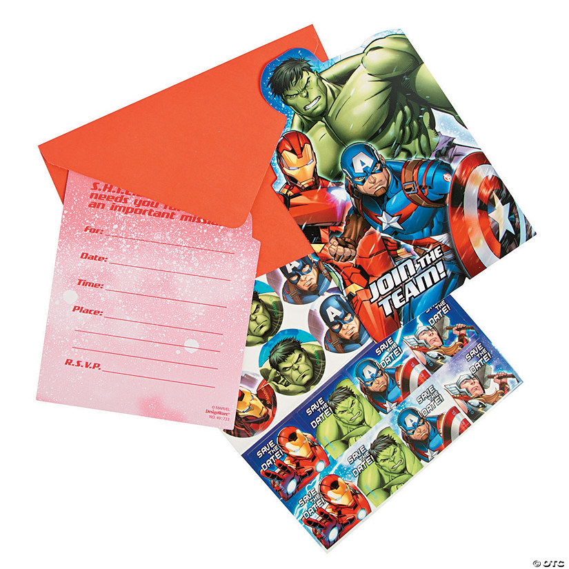 Marvel Avengers™ Party Invitations