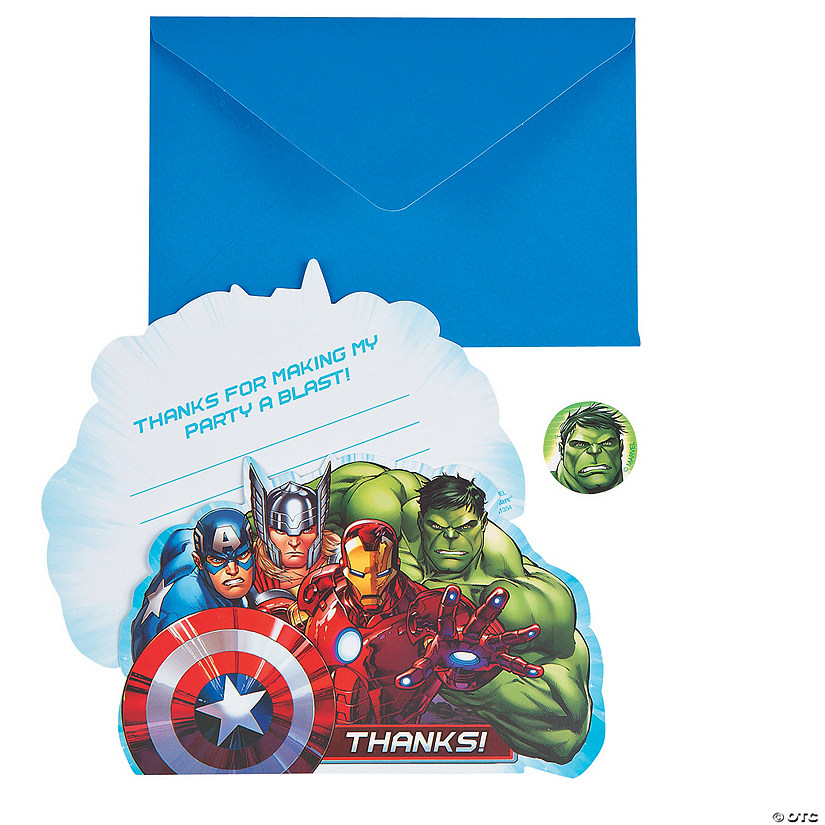 Marvel Avengers Thank You Cards Discontinued