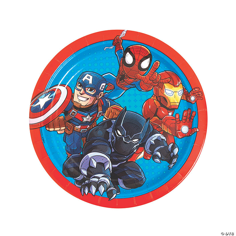 Marvel Superheroes Round Paper Dinner Plates - 8 Ct. Audio Thumbnail
