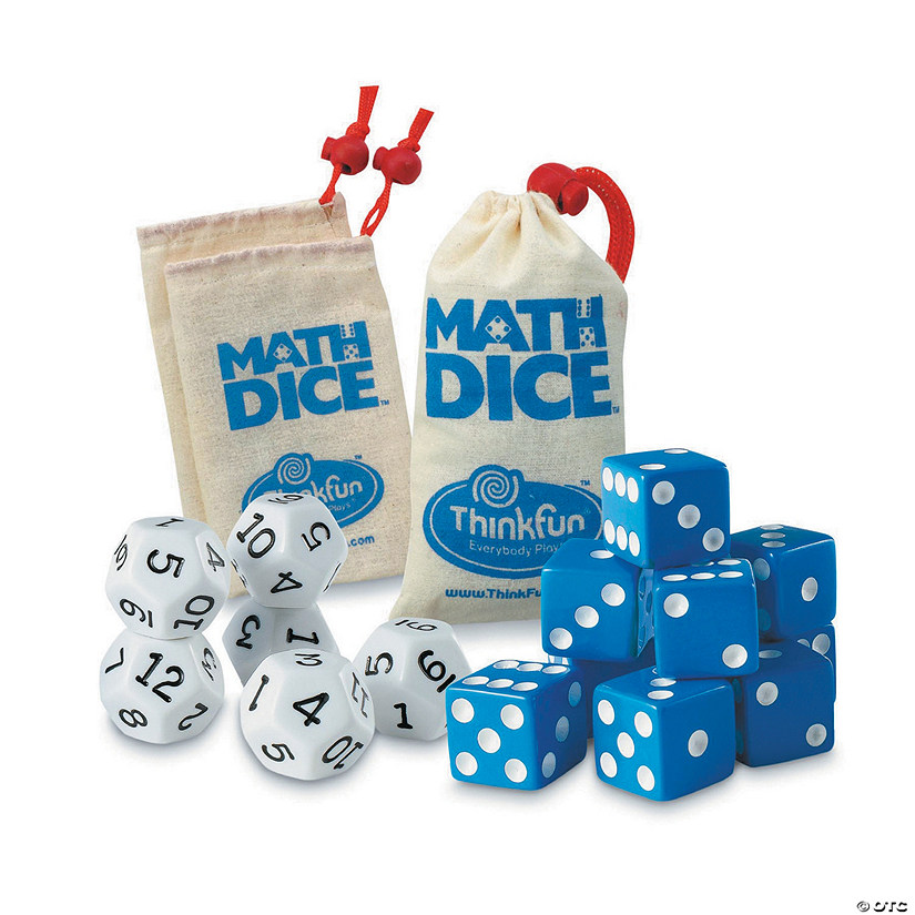 Math Dice: Set of 3 Image Thumbnail