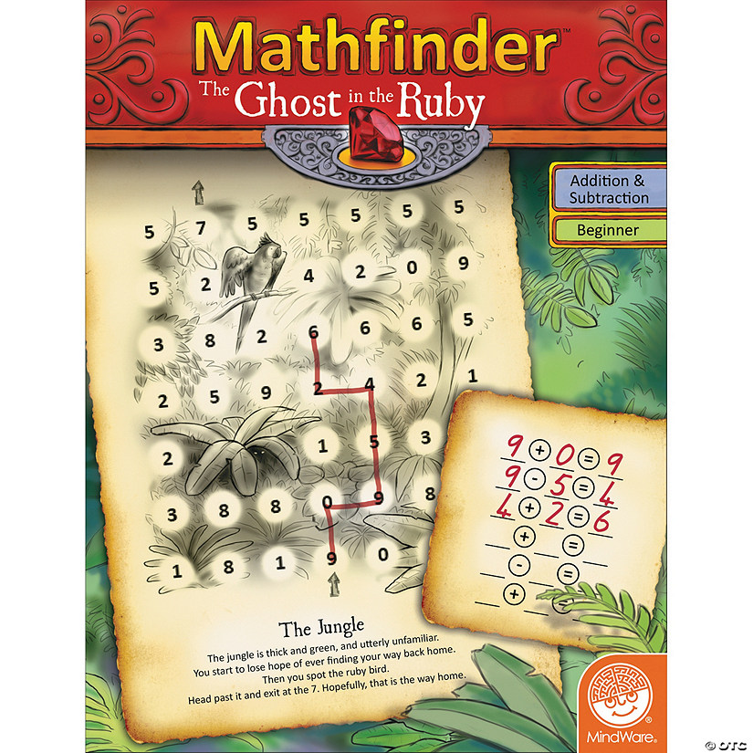 Mathfinder: The Ghost in the Ruby (easy addition/subtraction) Audio Thumbnail