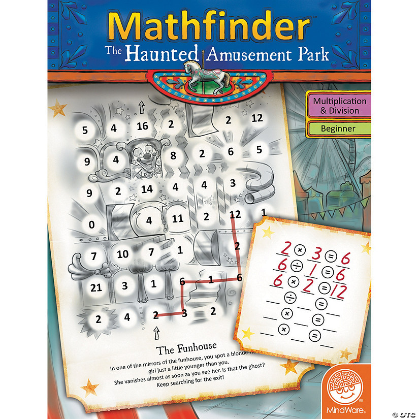 Mathfinder: The Haunted Amusement Park (easy multiplication/division) Image Thumbnail