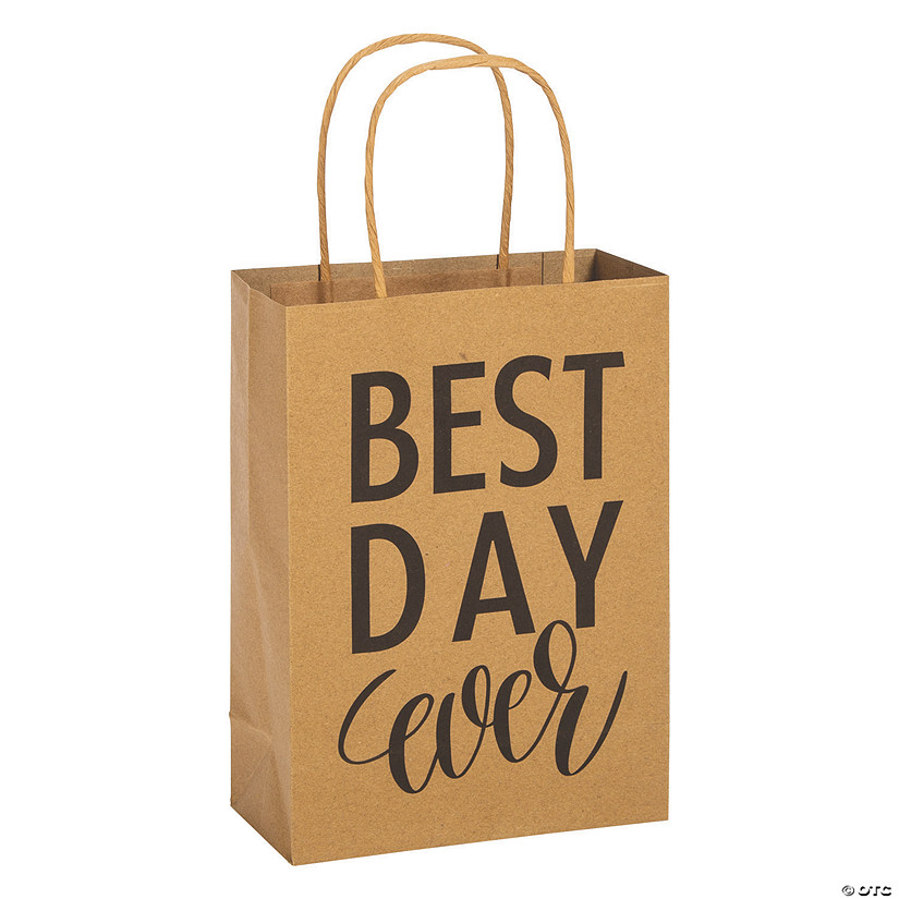 Medium Best Day Ever Kraft Paper Gift Bags Audio Thumbnail