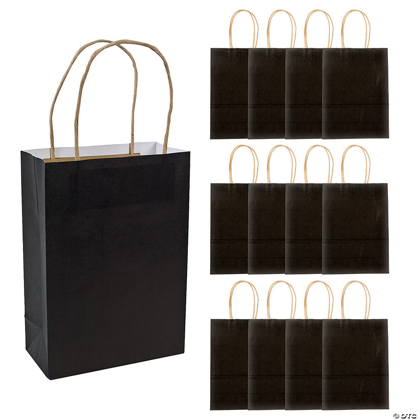 Medium Black Kraft Paper Gift Bags Audio Thumbnail
