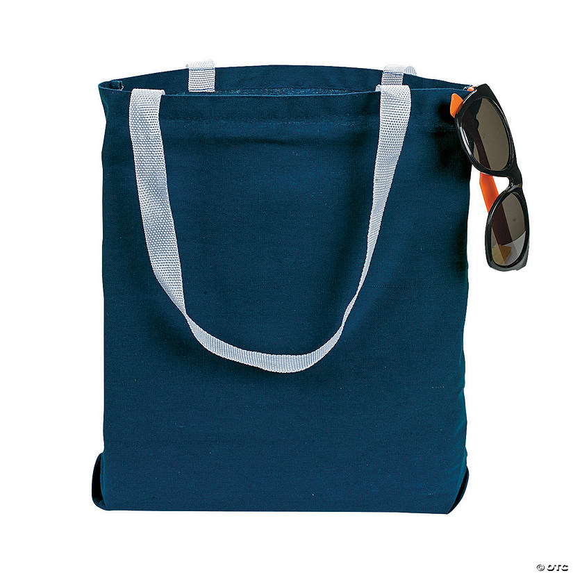 Medium Blue Canvas Tote Bags Image Thumbnail