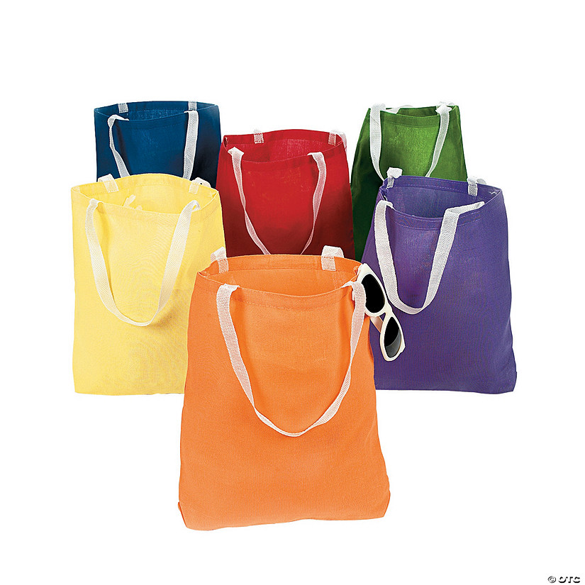 Medium Bright Canvas Tote Bags Audio Thumbnail