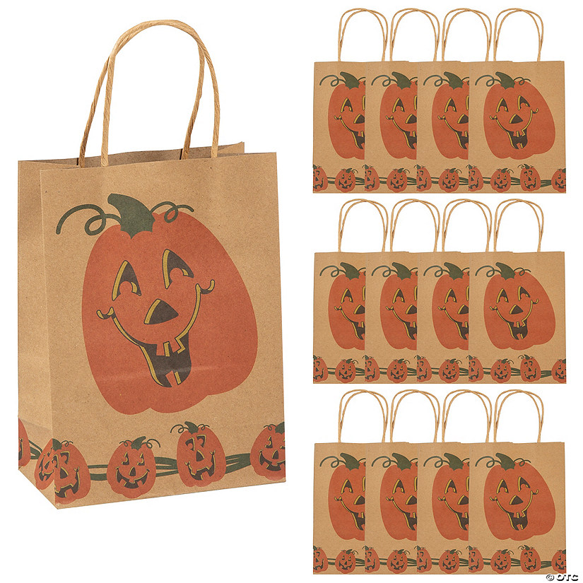 Medium Brown Jack-O'-Lantern Gift Bags Audio Thumbnail