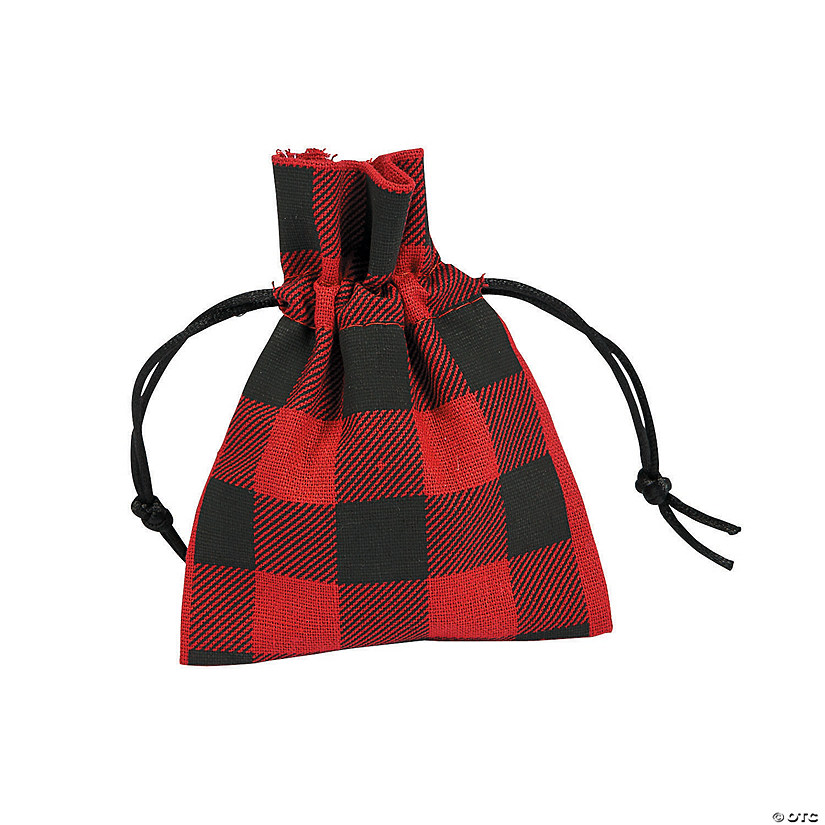 Medium Buffalo Plaid Drawstring Bags Audio Thumbnail
