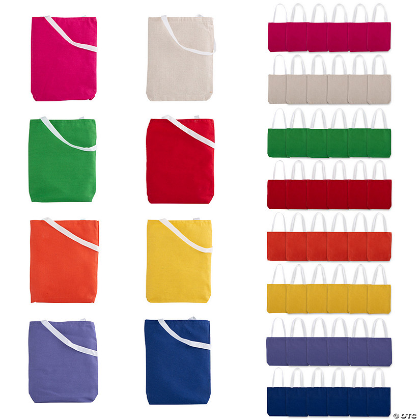 Medium Canvas Tote Bag Assortment