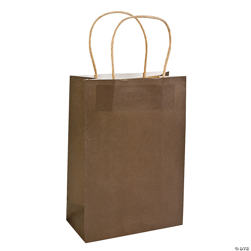 Medium Chocolate Kraft Paper Gift Bags