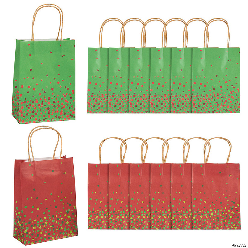 Medium Christmas Sprinkle Kraft Paper Gift Bags Audio Thumbnail