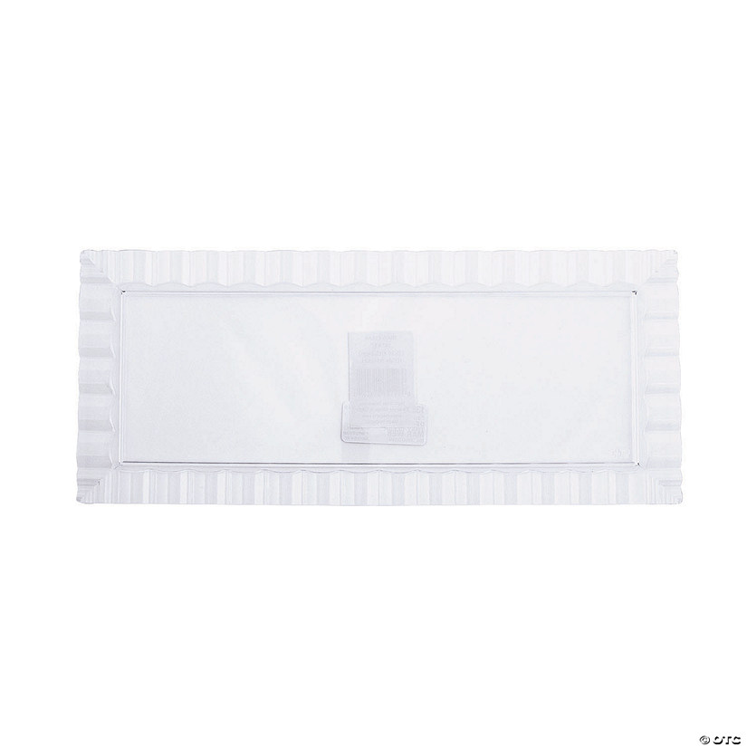 Medium Clear Decorative Plastic Tray with Wavy Edge