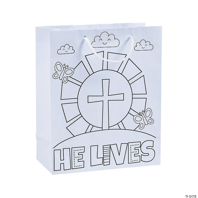 Medium Color Your Own He Lives Gift Bags Audio Thumbnail