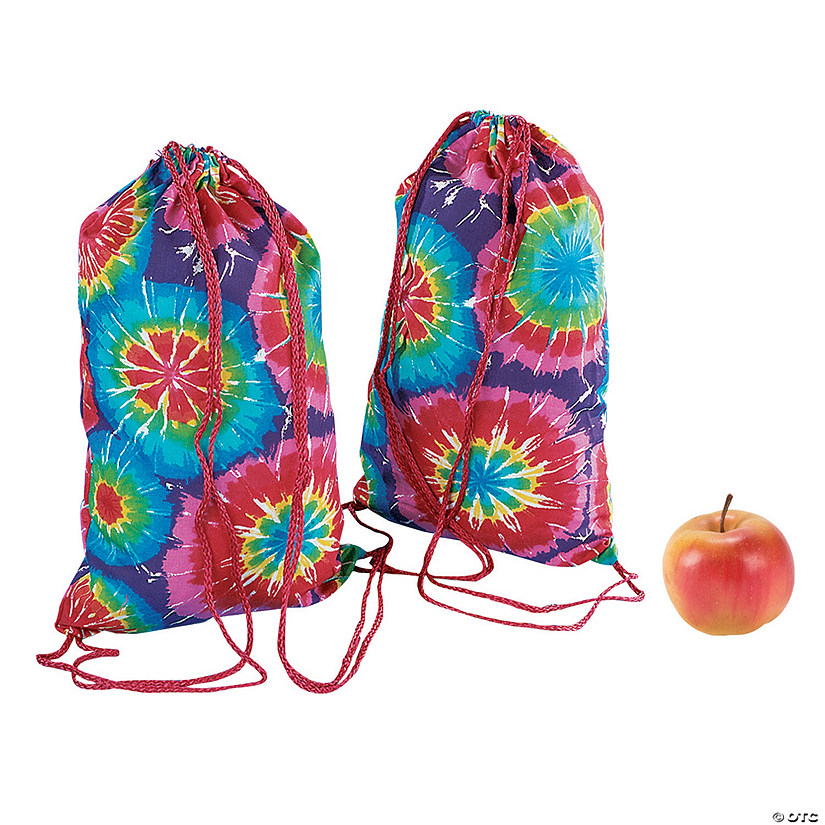 Medium Colorful Tie-Dyed Drawstring Bags Audio Thumbnail