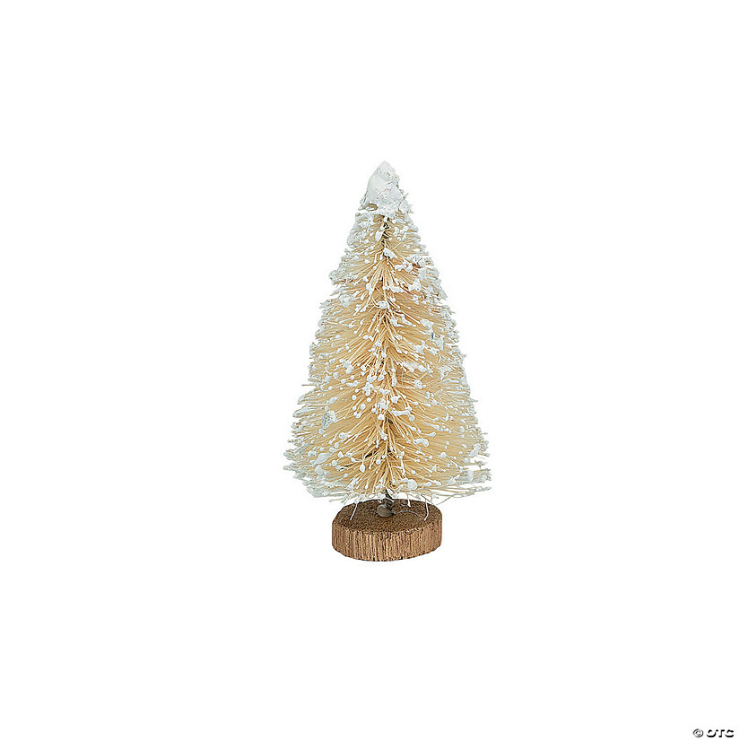 Medium Cream Frosted Sisal Trees