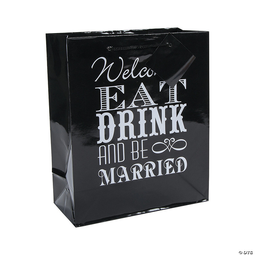 Medium Eat, Drink & Be Married Welcome Gift Bags with Tags Audio Thumbnail