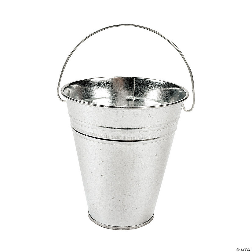 Medium Galvanized Metal Pails