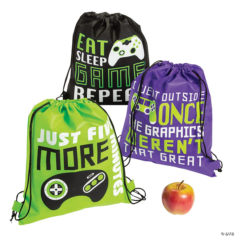 Medium Gamer Drawstring Bags Image Thumbnail