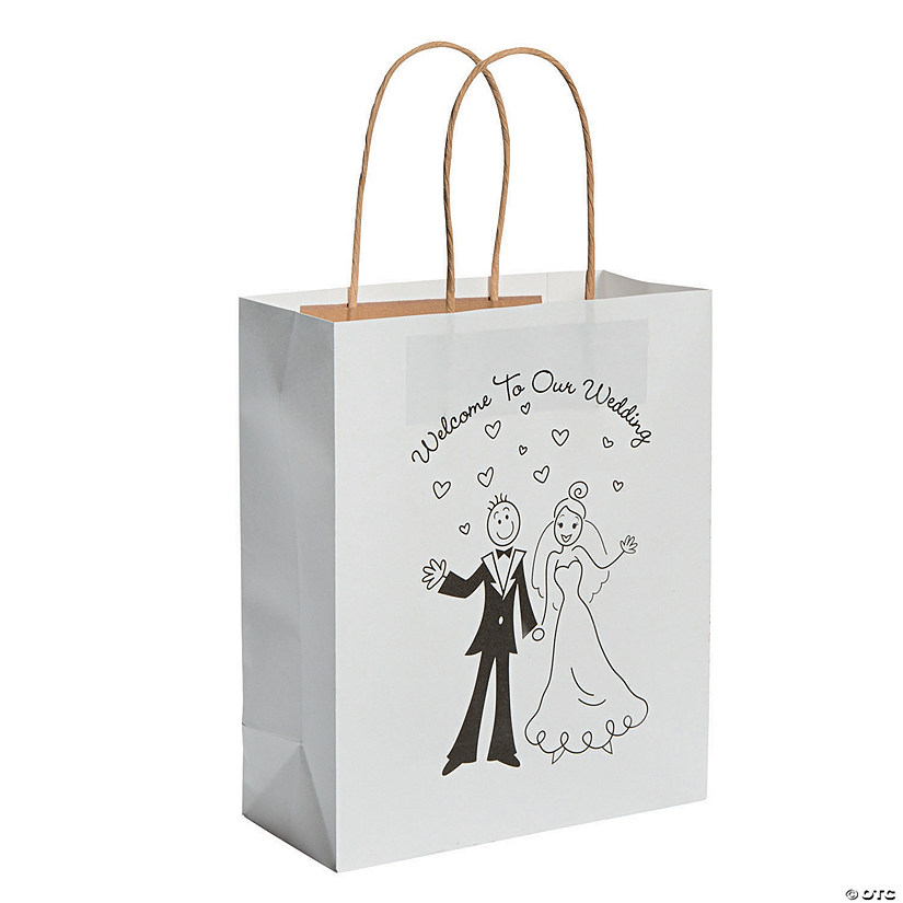 Medium Happy Couple Kraft Paper Gift Bags - 36 Pc. Audio Thumbnail