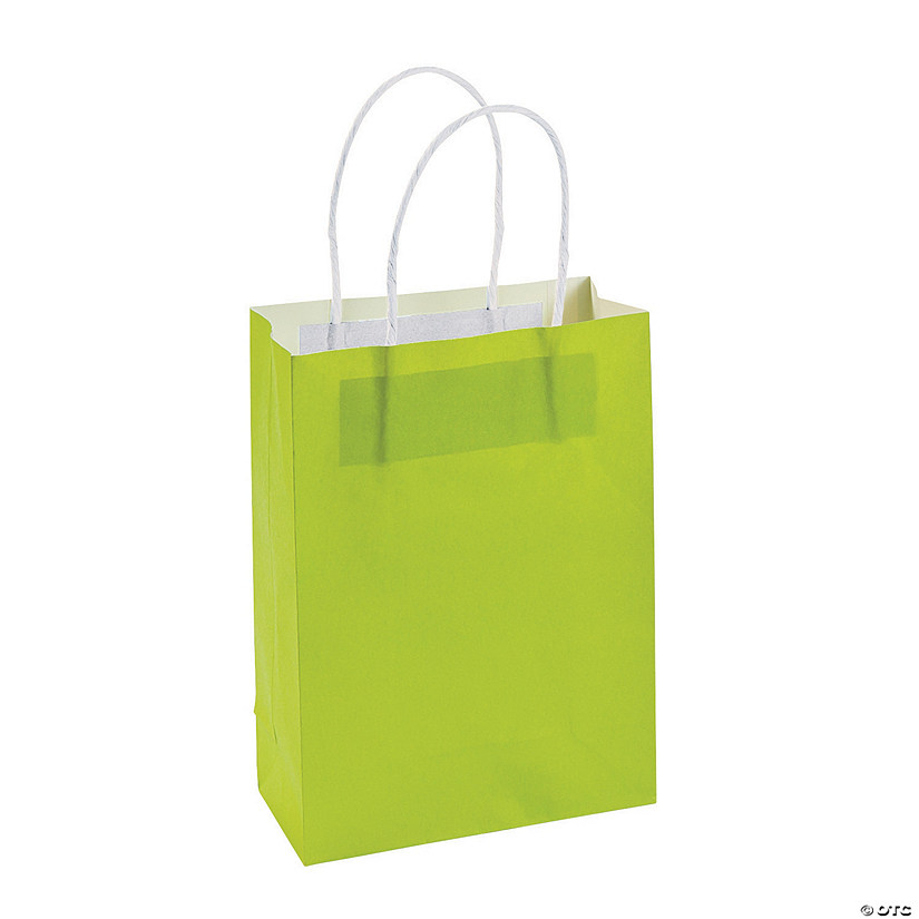 Medium Lime Green Kraft Paper Gift Bags