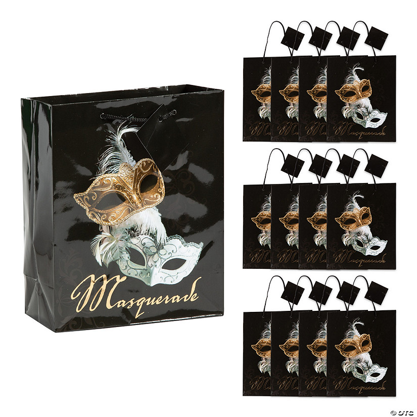Medium Masquerade Ball Gift Bags with Tags