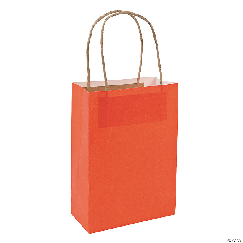Medium Orange Kraft Paper Gift Bags Audio Thumbnail