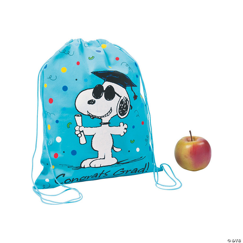 Medium Peanuts<sup>&#174;</sup> Graduation Drawstring Bags Audio Thumbnail