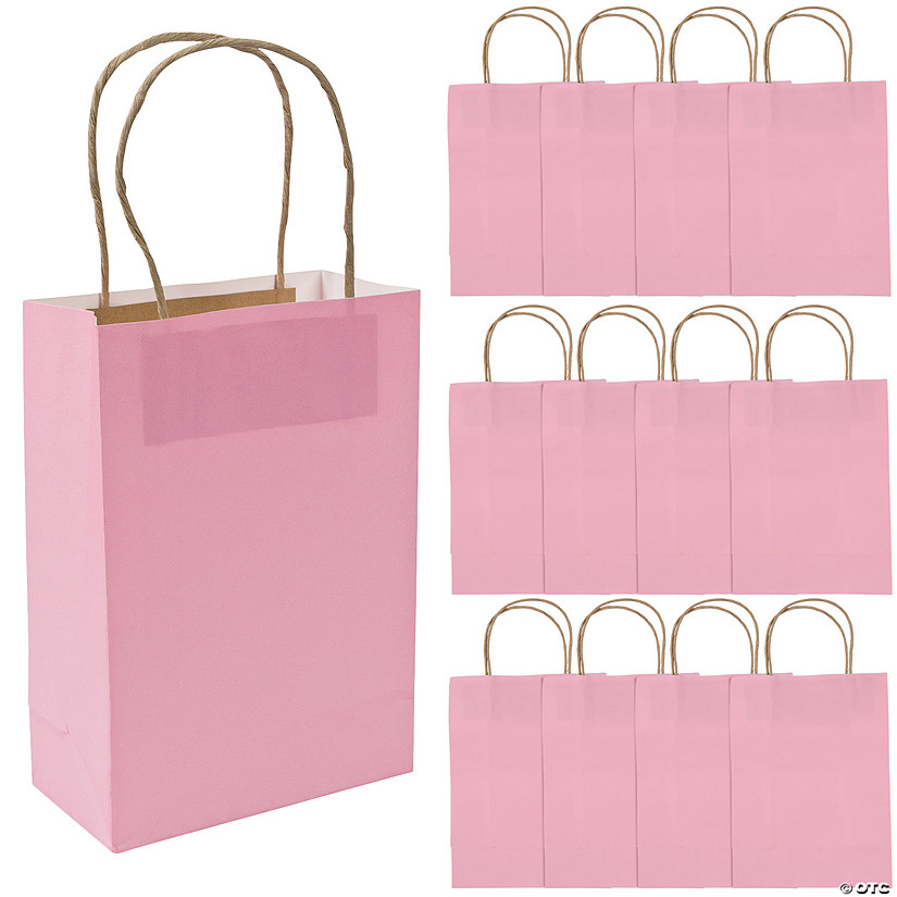 Medium Pink Kraft Paper Gift Bags Audio Thumbnail
