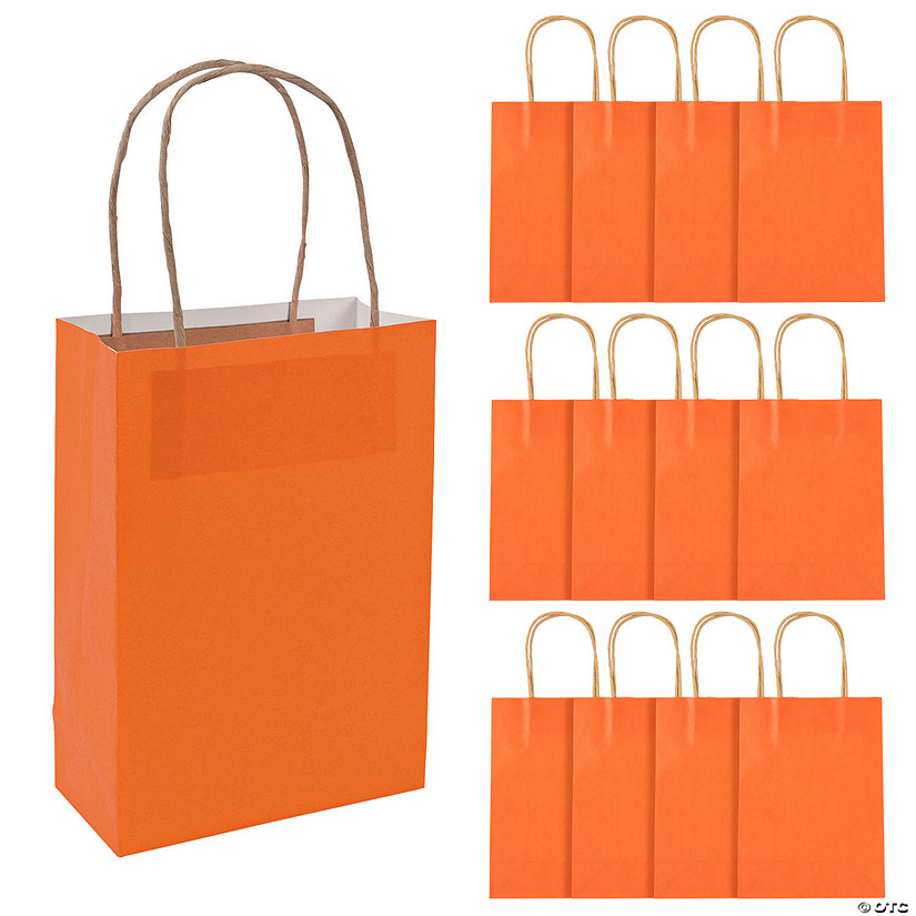 Medium Pumpkin Orange Kraft Paper Gift Bags Audio Thumbnail