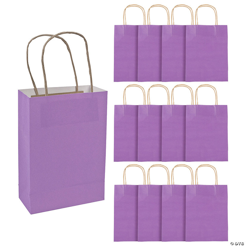 Medium Purple Kraft Paper Gift Bags
