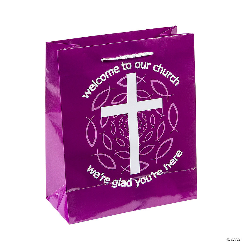 Medium Purple Welcome To Our Church Gift Bags