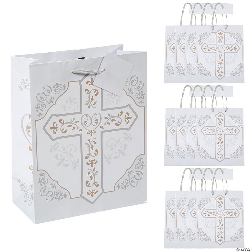 Medium Religious Cross Gift Bags
