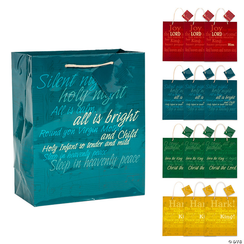 Medium Religious Hymn Gift Bags with Tags