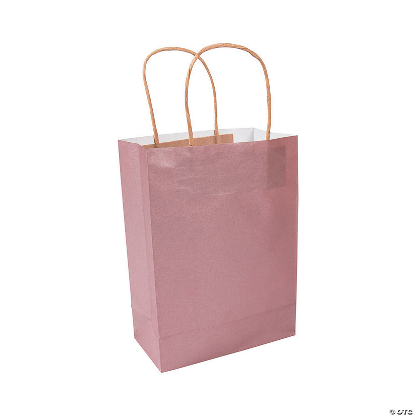 Medium Rose Gold Kraft Paper Gift Bags