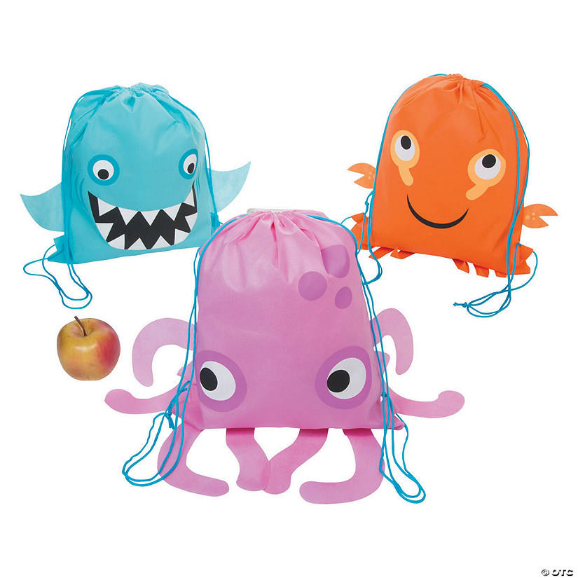 Medium Sea Life Drawstring Bags Image Thumbnail