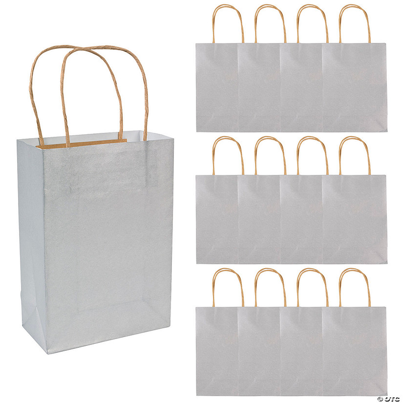 Medium Silver Kraft Paper Gift Bags Audio Thumbnail