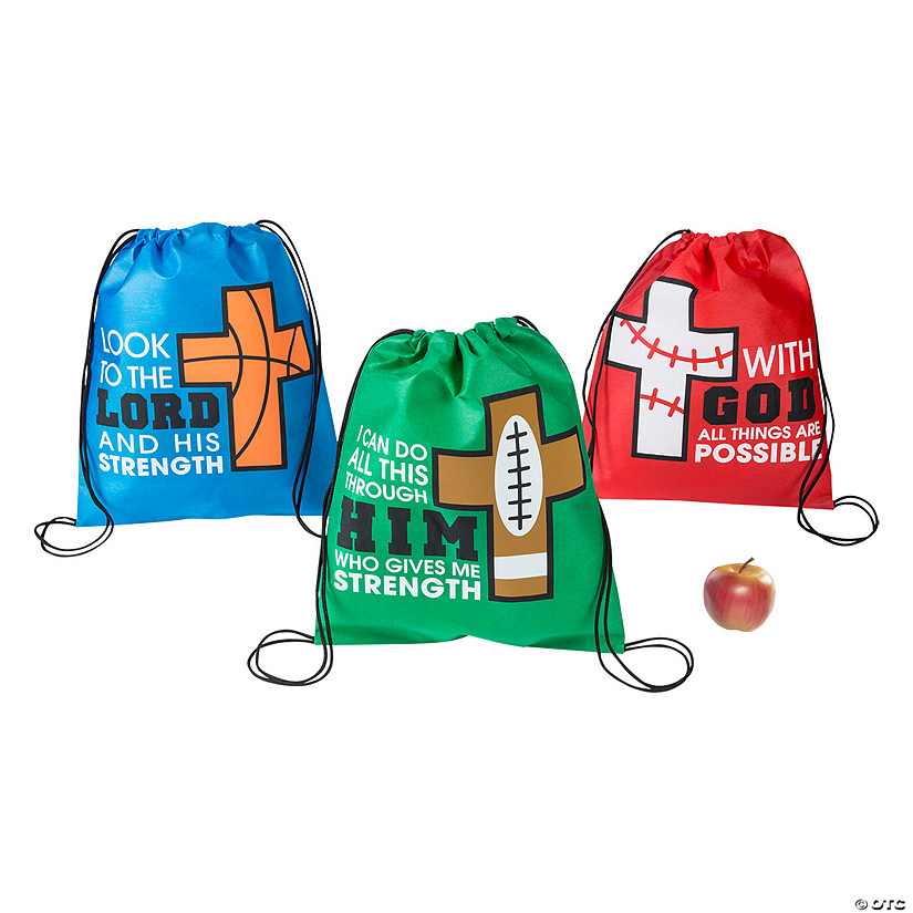Medium Sports VBS God's Team Drawstring Bags Audio Thumbnail
