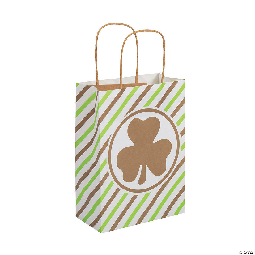 Medium St. Patrick's Day Kraft Paper Gift Bags Image Thumbnail