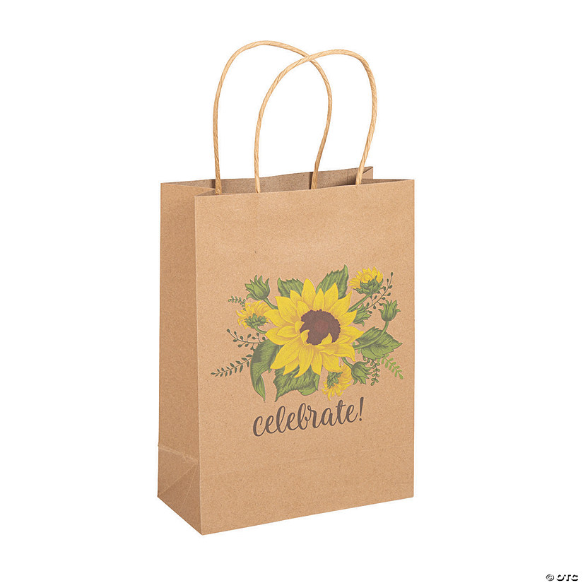 Medium Sunflower Kraft Paper Gift Bags Audio Thumbnail