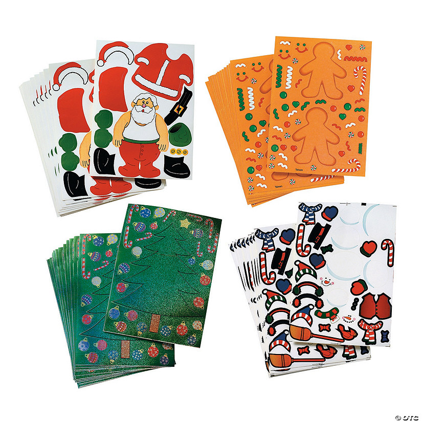 Mega Holiday Make-a-Character Stickers