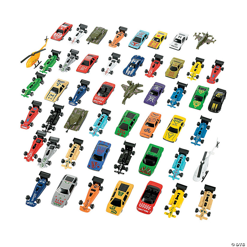 Mega Plastic Car Assortment- 50 Pc. Image Thumbnail