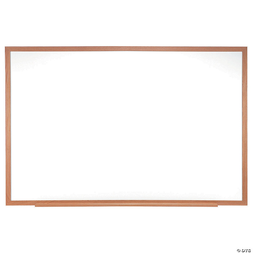"Melamine Whiteboard w/Wood Frame, 18"" x 24"""
