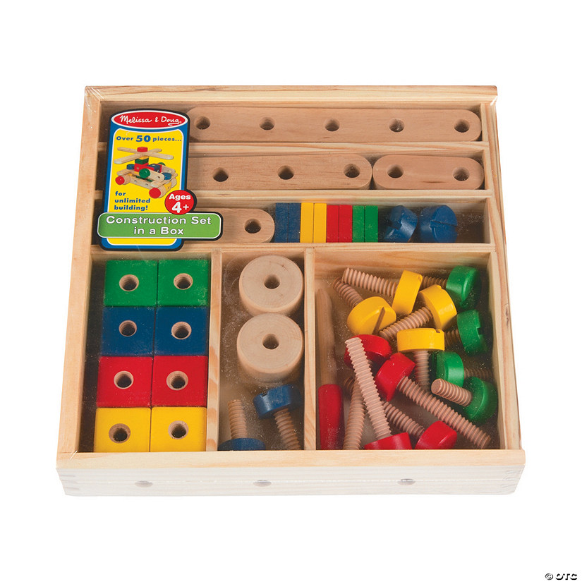 0db7aedb3 Melissa   Doug® Construction Set in a Box - 50 pc. - Discontinued