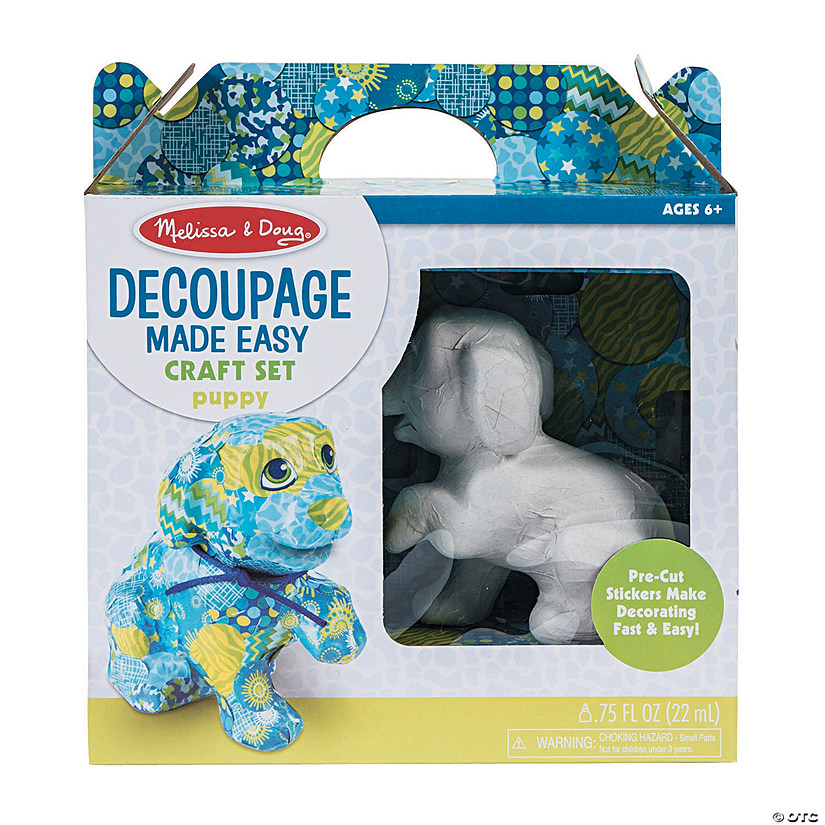Melissa & Doug<sup>®</sup> Decoupage Puppy Kit