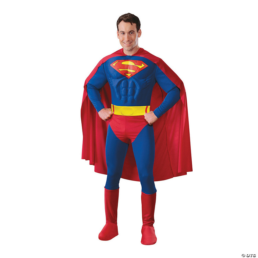 Men's Deluxe Muscle Superman Costume Audio Thumbnail