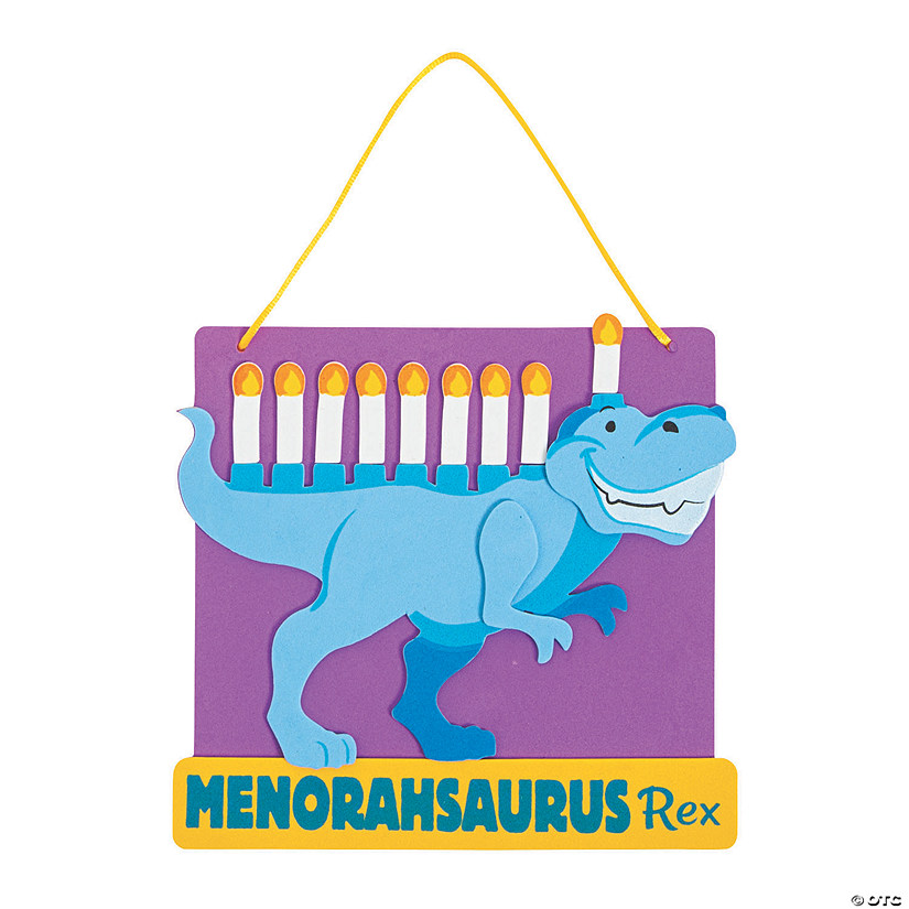 Menorahsaurus Rex Sign Craft Kit Image Thumbnail