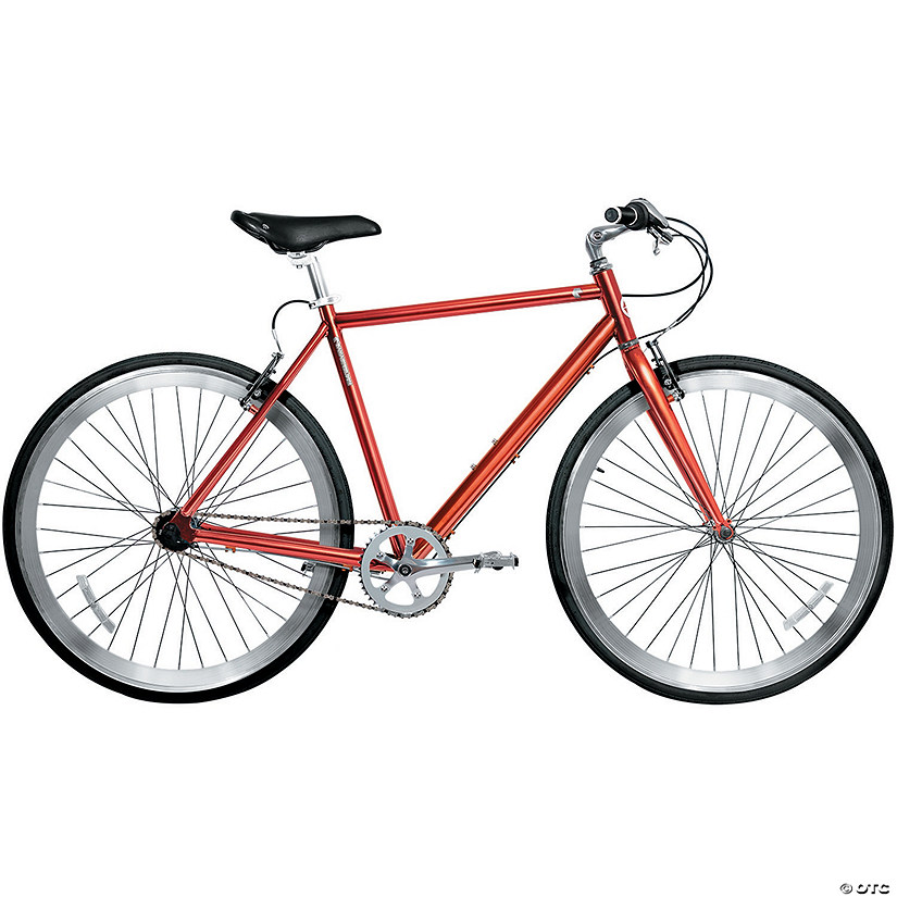Men's 3-Speed 700c Urban Commuter Bicycle: Bronze