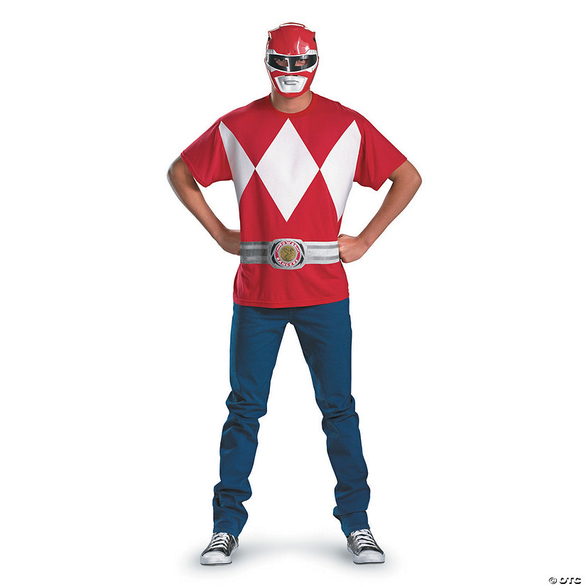 Men's Alternative Red Power Ranger Costume